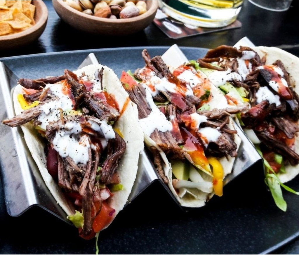 Taco bar for catering events and parties